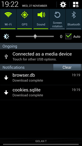 Automatic File Download to SD Card