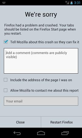 Firefox Crash Reporter