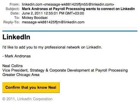 LinkedIn spam emails trick users into downloading malware that steals login credentials