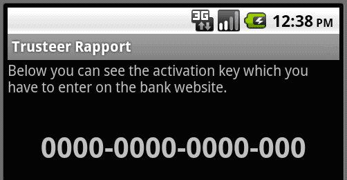 Man in the Mobile (MitMo) fraudulent Android application abusing the Trusteer brand.