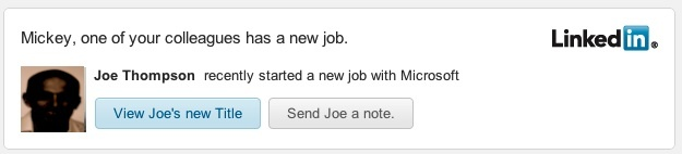 This fictitious LinkedIn new job alert email was created to test how effective phishing messages can be. Clicking on the button redirects the victim to a different website (not LinkedIn), where malware is placed on the victim