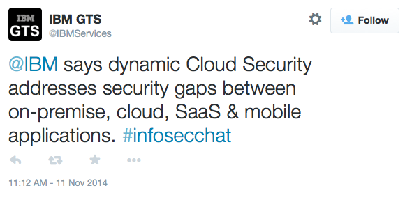 IBM #infosec chat on cloud security - Answer from IBM Services to question 2