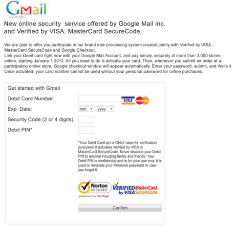 Malware webinject presented to Gmail and Yahoo users, respectively