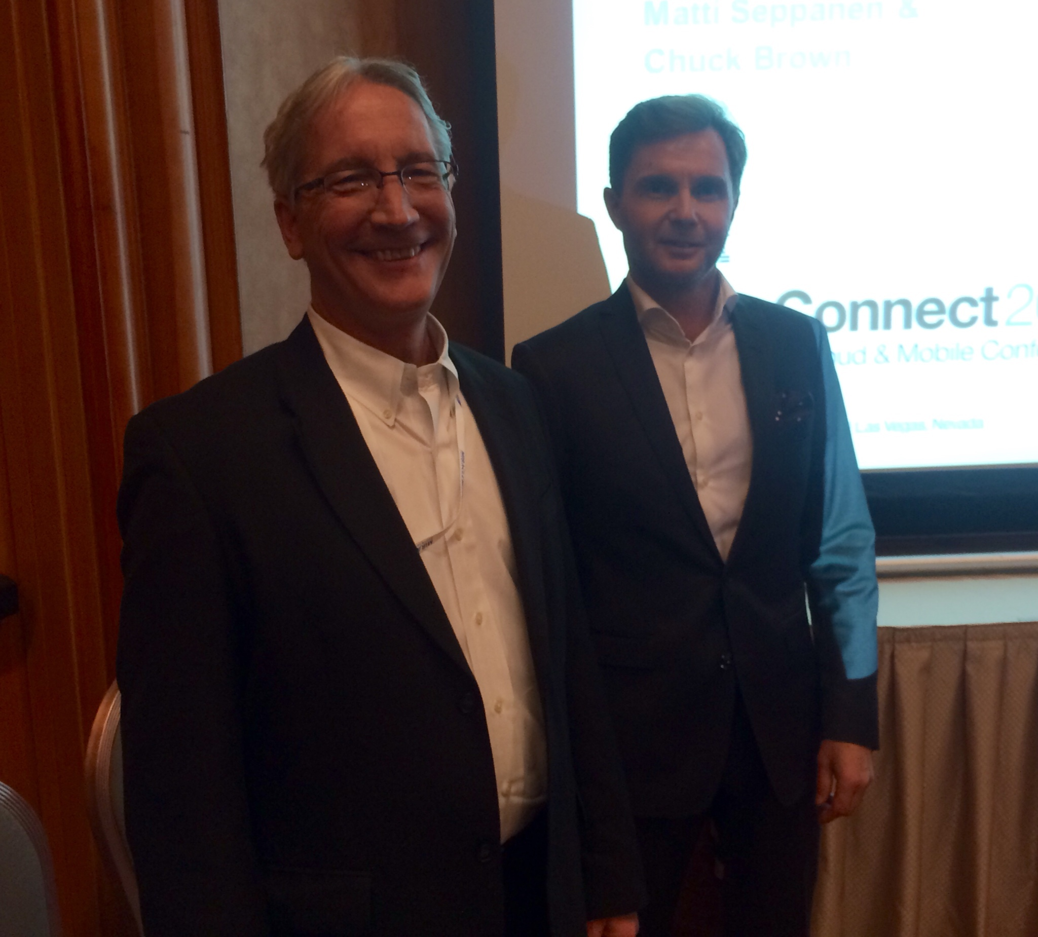 Chuck Brown of IBM and Matti Seppänen of Enfo discuss endpoint management at IBM InterConnect 2015