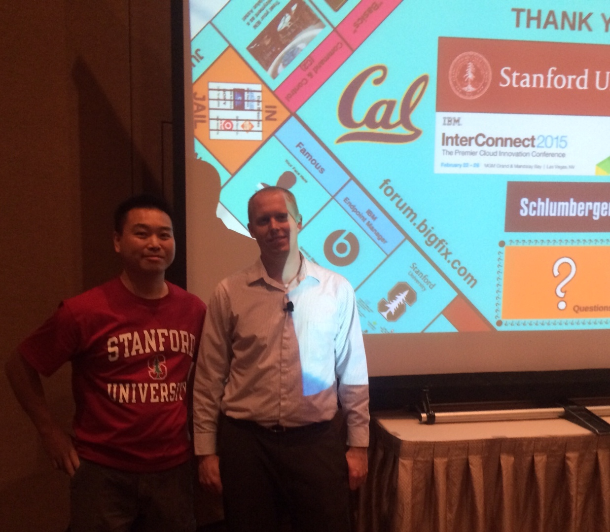 Stacy Lee (L) and Brian Katyl (r) of Stanford University's Security Operations Team at IBM InterConnect 2015