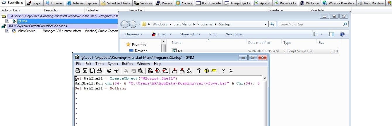 Contents of the suspicious visual basic script will lead to the malicious file