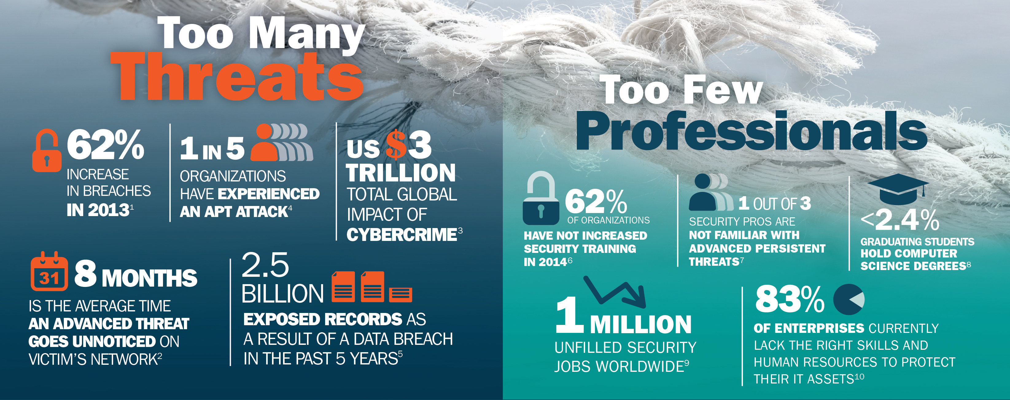 Excerpt from ISACA Infographic from their report on Cyber Skills Shortage