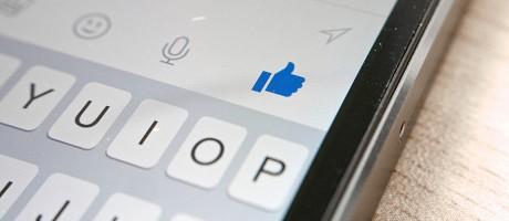 A smartphone running the Facebook Messenger app.