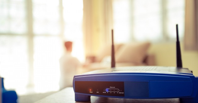 A wireless internet router.