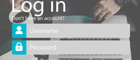 Signing in to a website with username and password.