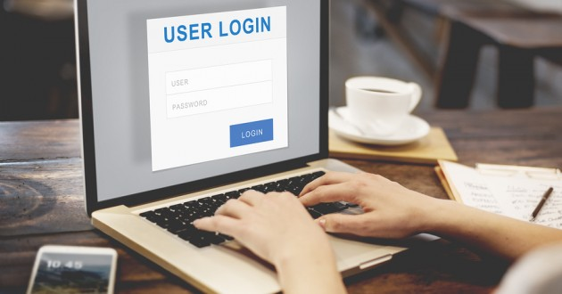 A user logging into an online service.