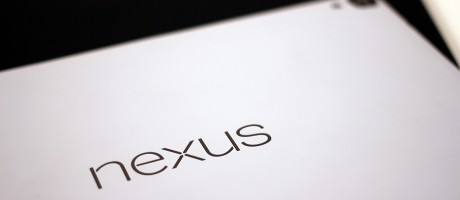 A close-up of the HTC Nexus 9.