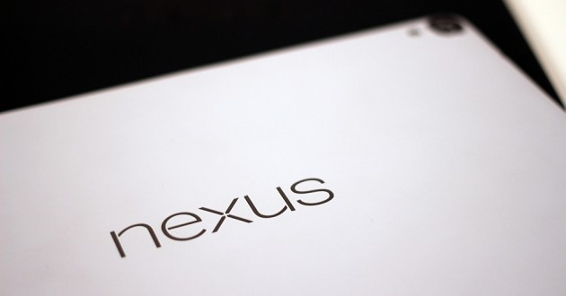 A close-up of the HTC Nexus 9.