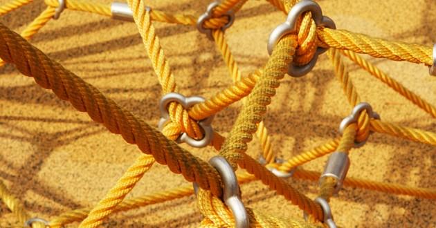 Close-up shot of a safety net.
