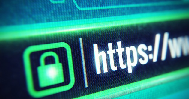 A web browser address bar signifying the HTTPS protocol.