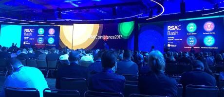 An audience receiving a keynote speech during RSA 2017.