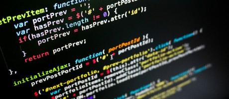 Java code on a black screen.