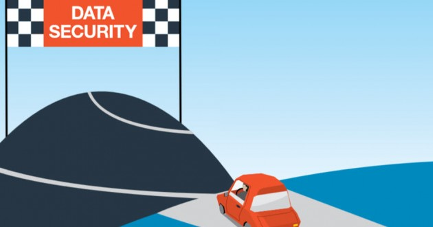 The finish line at the end of the road to total data security.