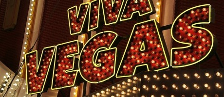 "A fluorescent ""Viva Vegas"" sign in Las Vegas."