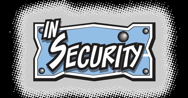 """In Security"" web comic logo."