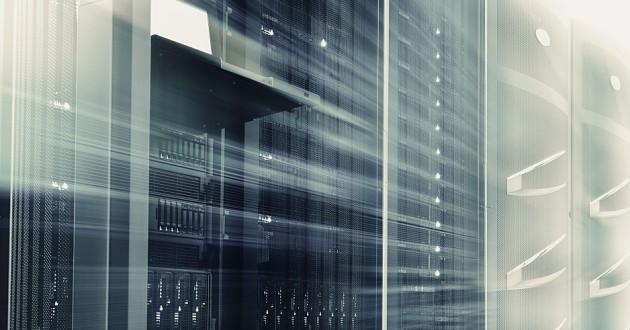 A mainframe in a data center.