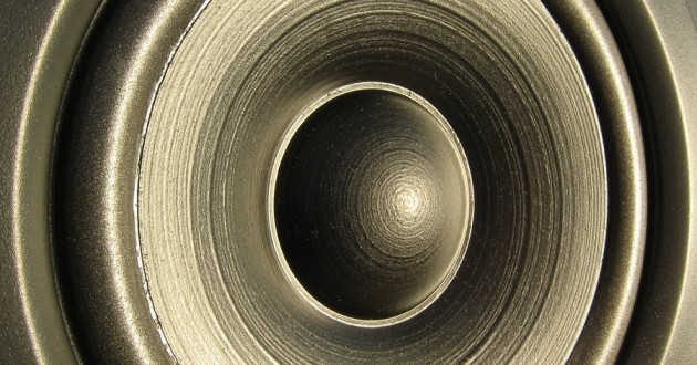 A close-up of a loudspeaker.