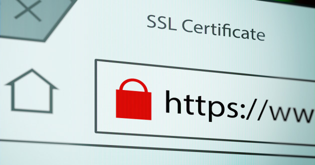 A web browser address bar signifying a secure HTTPS connection.