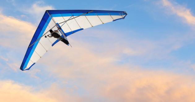 A hang glider.