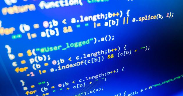 Strings of code representing AI cyberattacks