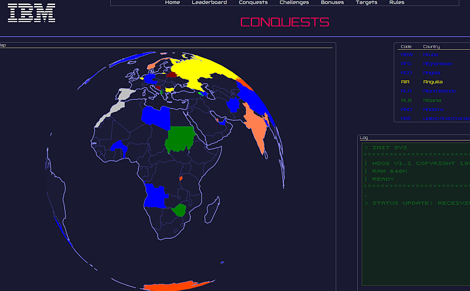 IBM X-Force Command  heart CTF Conquests