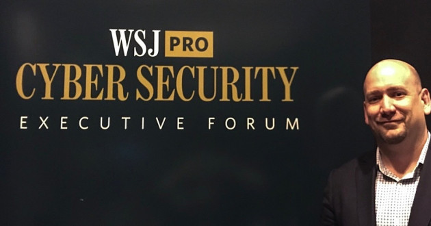 IBM X-Force IRIS global remediation lead Christopher Scott posing for a photo at The Wall Street Journal's Pro Cybersecurity Executive Forum in New York.