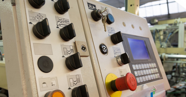 An industrial machine control panel.