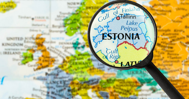 Map of Estonia.