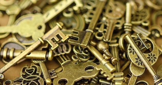 A pile of old keys.