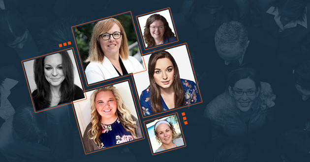 A collage of headshots from women at IBM.