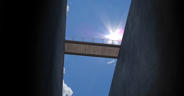A bridge spanning two ledges: digital transformation
