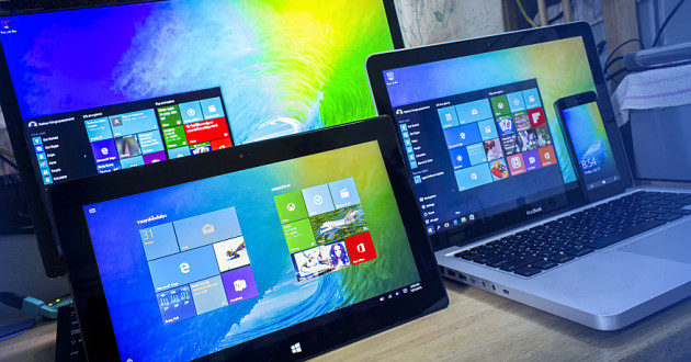 Several devices running Windows 10.