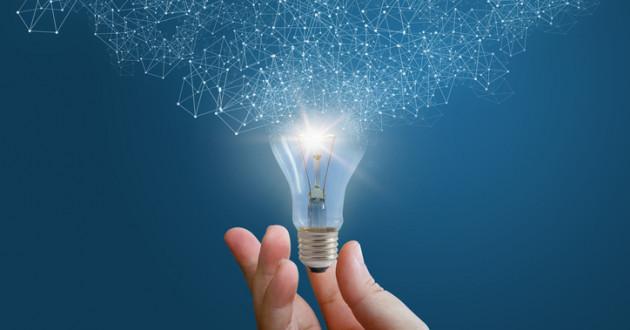 Lightbulb as innovation concept.