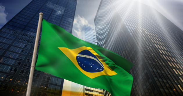 The Brazilian flag shows its green, blue and yellow colors: MnuBot