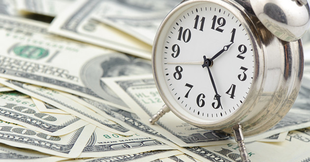 Business concept: Time is money.
