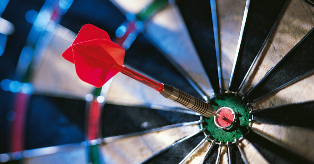 A dart in the bull's-eye of a dartboard: digital trust