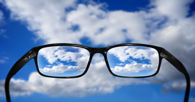 A partly cloudy day behind a pair of glasses: cloud security