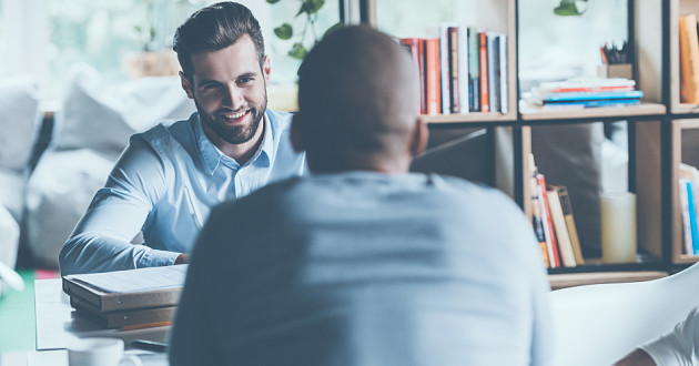 A man interviews a prospective employee: skills gap