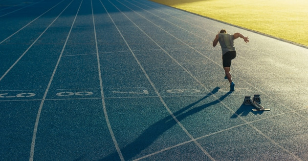A runner takes off on a track at sunset: known vulnerabilities