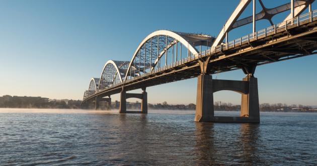 A bridge spanning a river: data risk