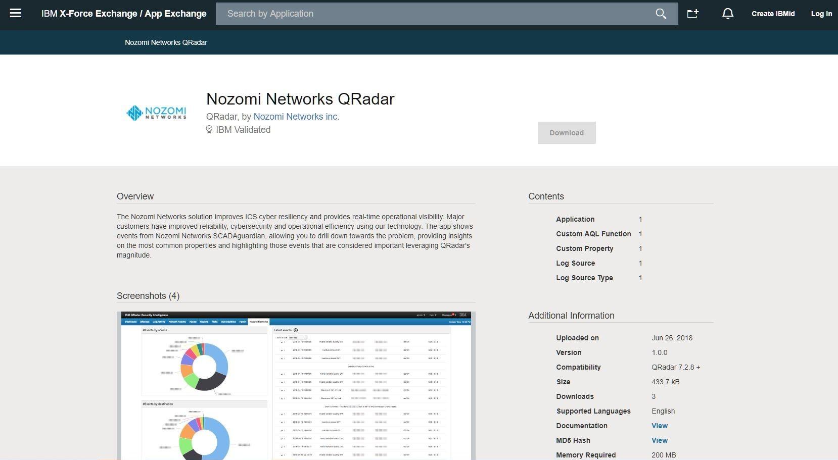 Nozomi Networks QRadar Solution