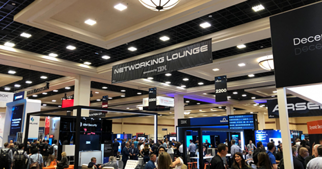 The IBM Networking Lounge at Black Hat 2018.