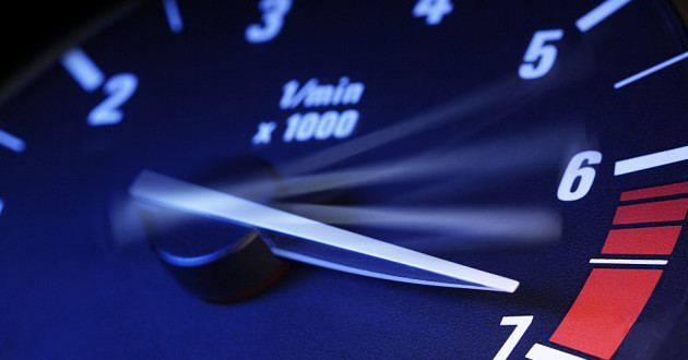 Closeup photo of a tachometer: SAP GRC