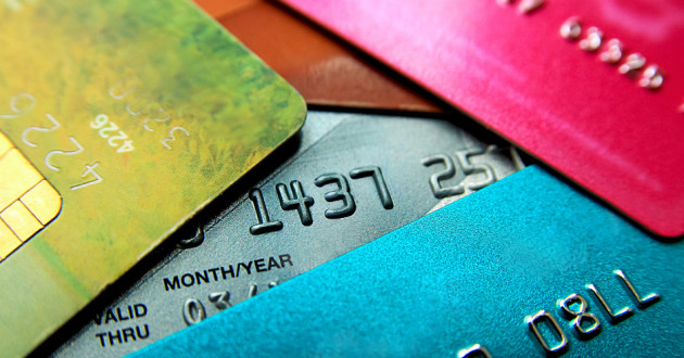 A stack of credit cards: financial cyberthreats