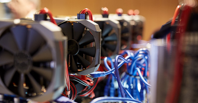 A cryptocurrency mining rig: Monero miners